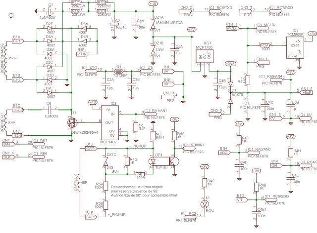 Schema allumage electronique cdi