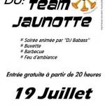 Soirée du Team Jaunotte